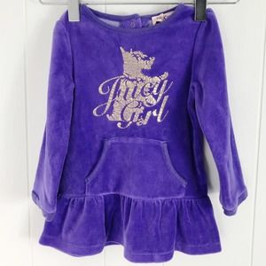 JUICY COUTURE Girl's 12-18 months Velour Dress